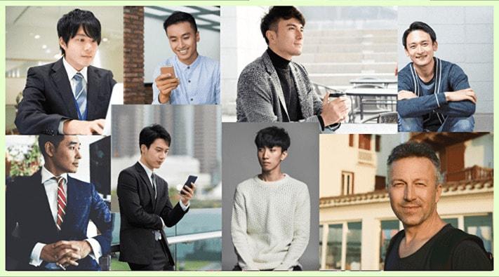 色々な年齢層の男性の写真