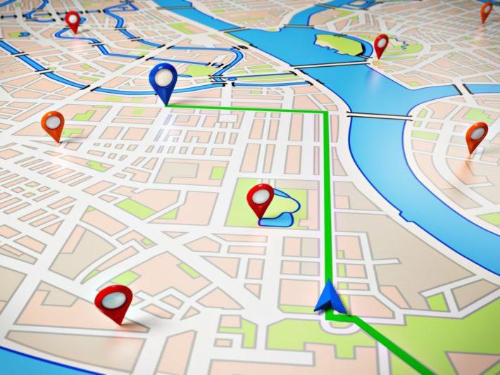 GPS 地図