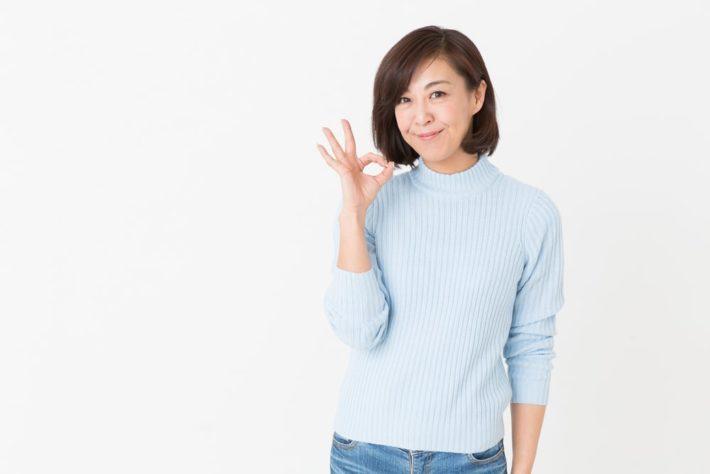 中年の日本人女性