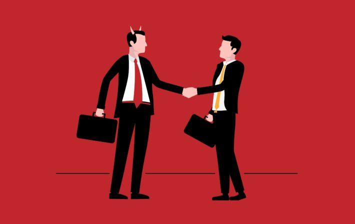 悪い経営者とビジネスマン