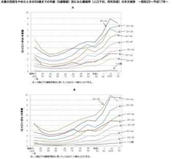 厚生労働省 離婚率データ