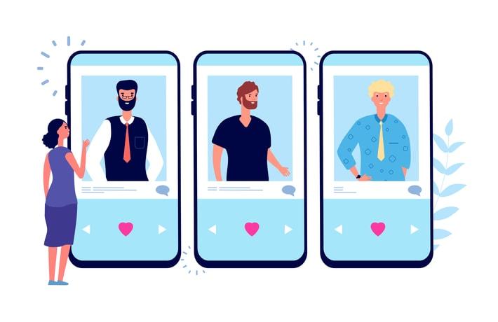 マッチングアプリを選ぶ女性