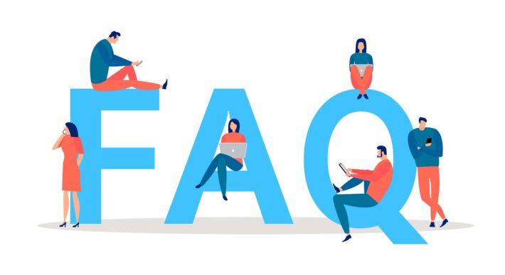FAQと人のイラスト