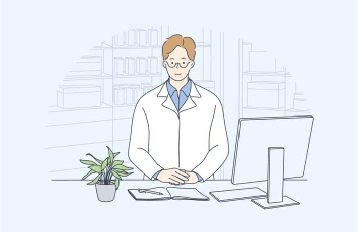 男性薬剤師のイラスト