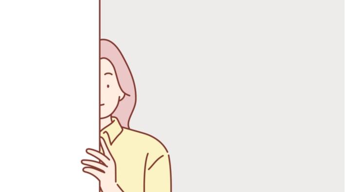 彼氏を監視する女性
