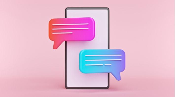 スマートフォンとメッセージ