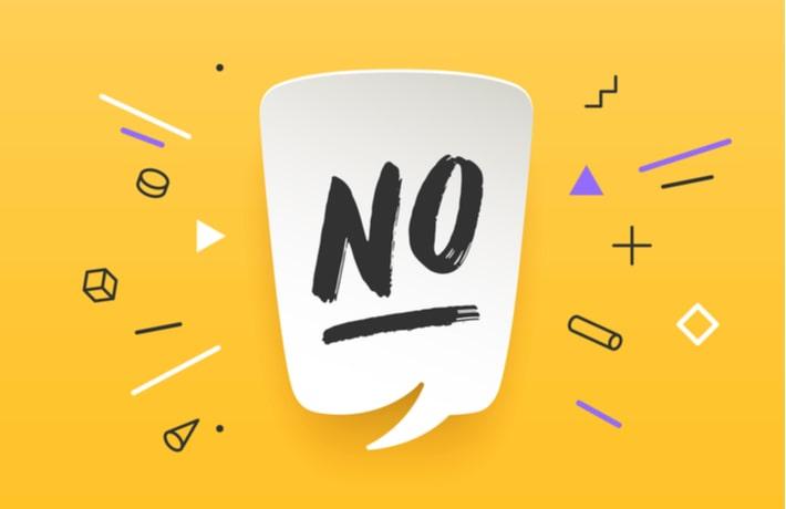 NOと書かれたメッセージマーク
