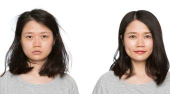女性の身嗜み前後の写真