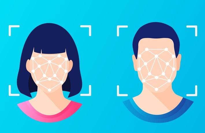 男性と女性の顔のイラスト
