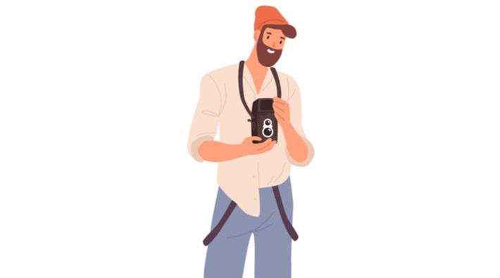 カメラマン男性