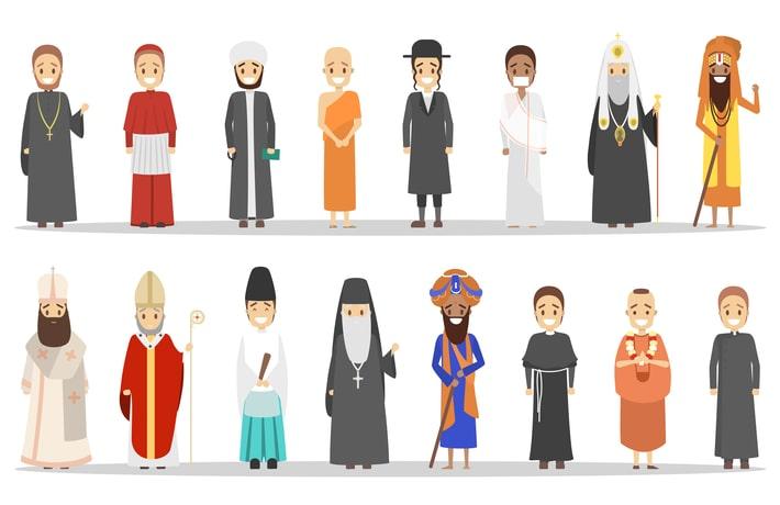 様々な宗教を表すイラスト