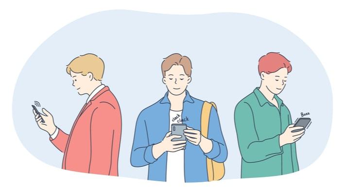 マッチングアプリをする男性達