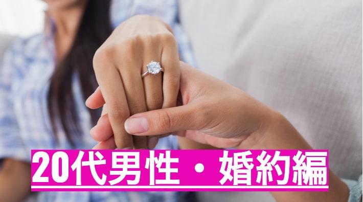 婚約指輪を彼女につける男性