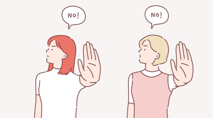 NO!と断る女性