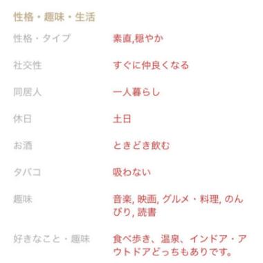 プロフィール選択項目02