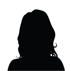 女性 黒いシルエットアイコン