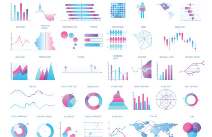 様々なデータのイラスト