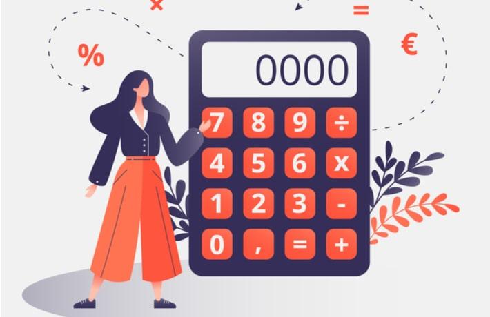 料金を計算する女性