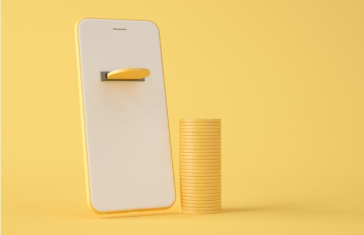 スマートフォンとコイン