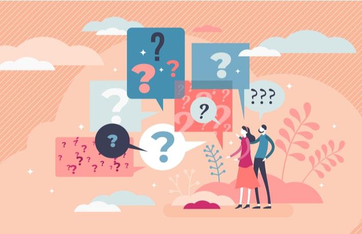 疑問を抱く人のイラスト