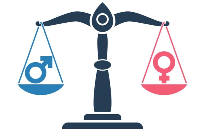 男女比のイメージ